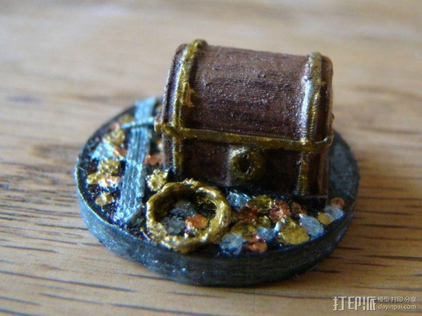 25毫米的迷你财宝箱V2 3D模型  图3