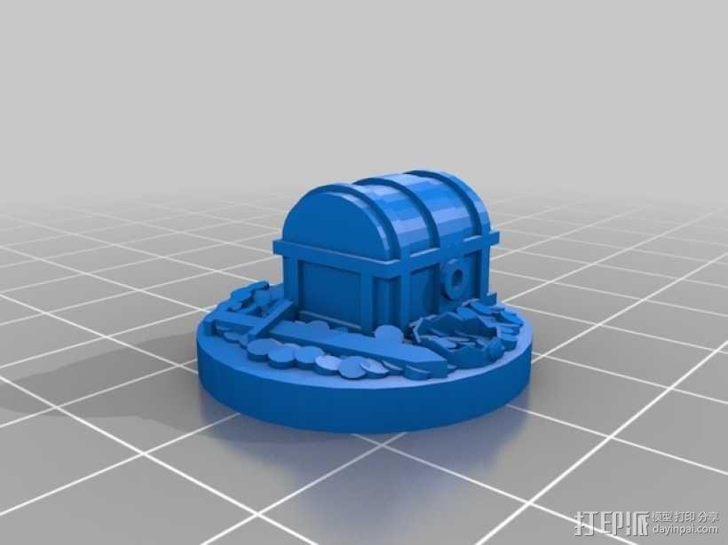 25毫米的迷你财宝箱V2 3D模型  图2