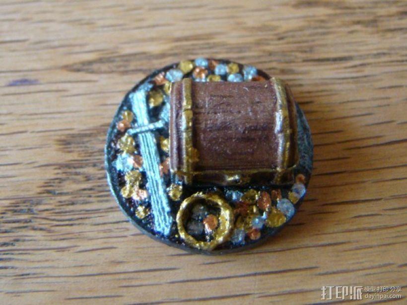 25毫米的迷你财宝箱V2 3D模型  图6