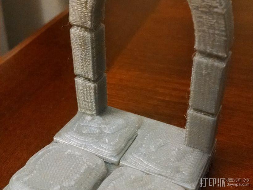 石头地牢:拱形门 3D模型  图1