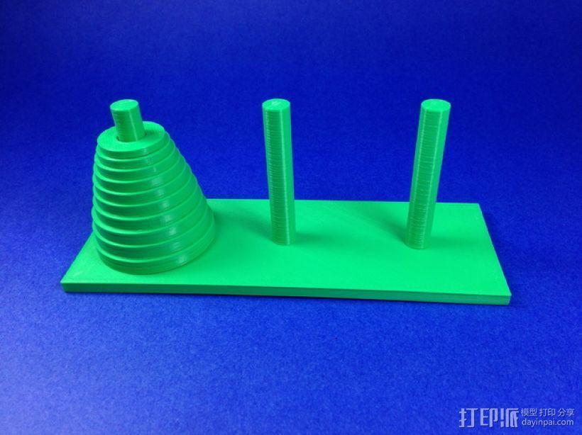 汉诺塔模型 3D模型  图1