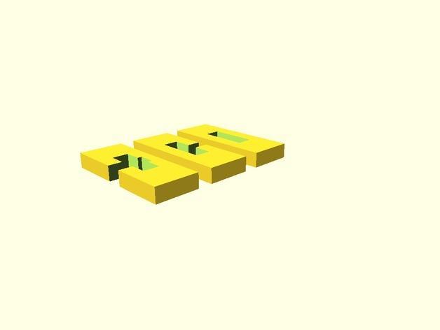 XYZ联锁平面拼图 3D模型  图2