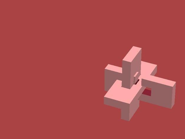 XYZ联锁平面拼图 3D模型  图7