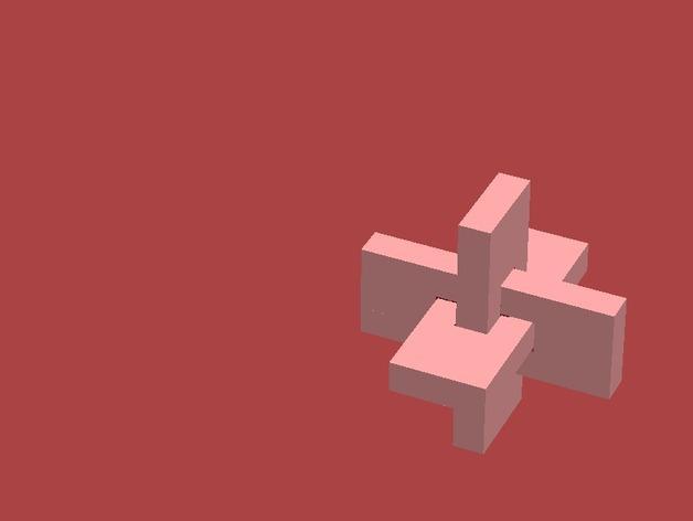 XYZ联锁平面拼图 3D模型  图8