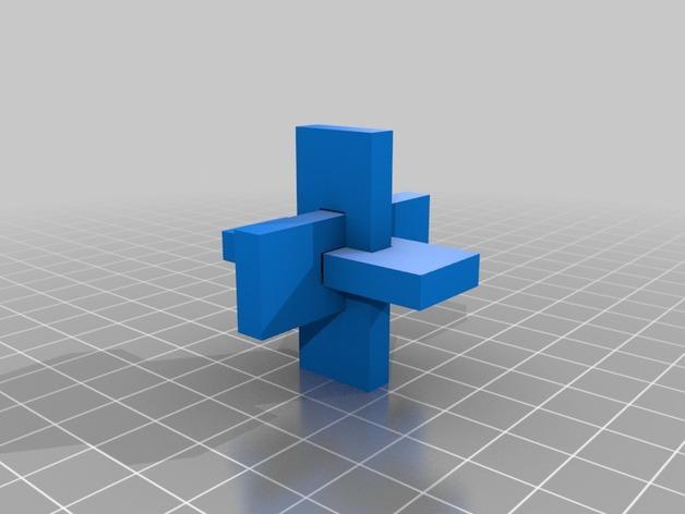 XYZ联锁平面拼图 3D模型  图11