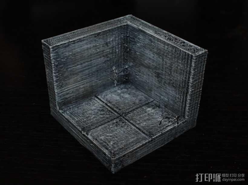 OpenForge边缘平滑的角砖 3D模型  图1
