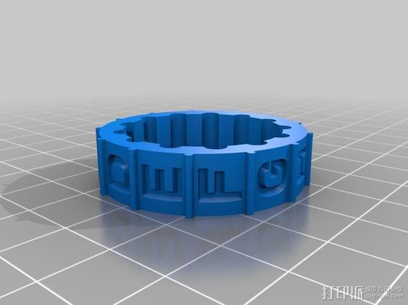 迷你密码筒模型 3D模型  图5