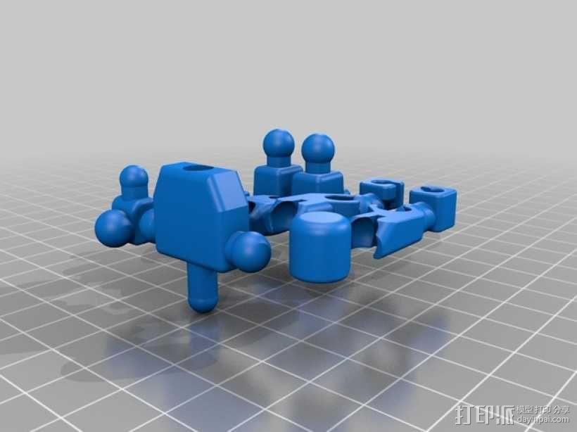 可伸缩定制的星际战士 3D模型  图2