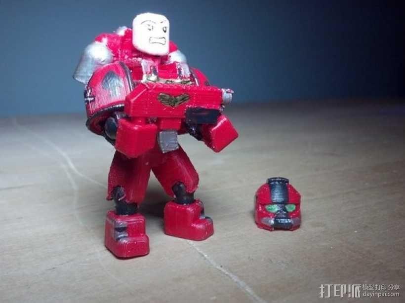 可伸缩定制的星际战士 3D模型  图1