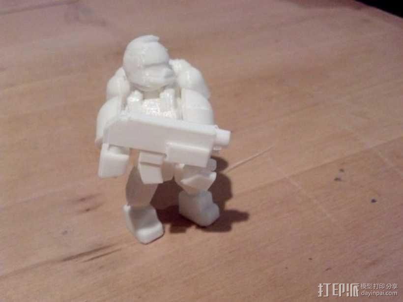 可伸缩定制的星际战士 3D模型  图4