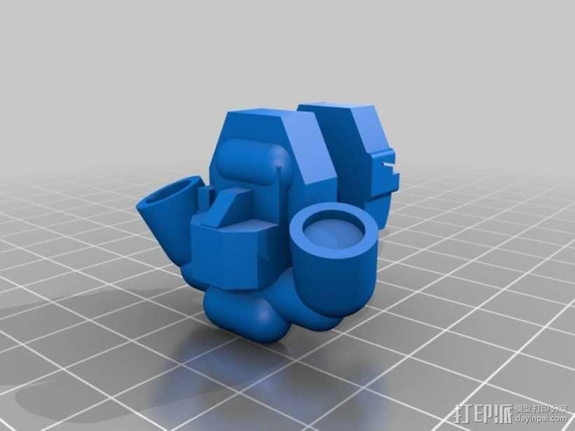 可伸缩定制的星际战士 3D模型  图8