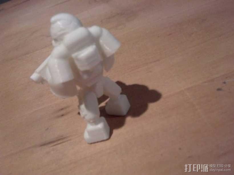 可伸缩定制的星际战士 3D模型  图9