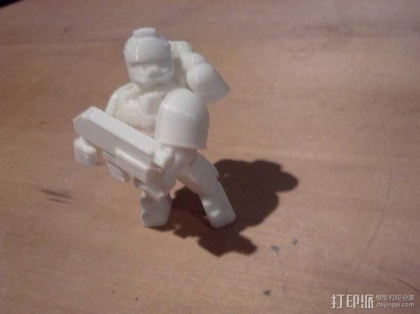 可伸缩定制的星际战士 3D模型  图10