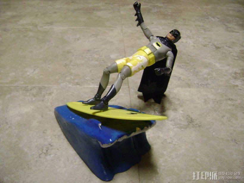 蝙蝠侠冲浪板支架 3D模型  图1