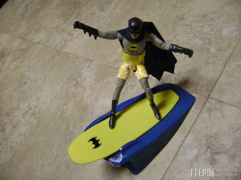 蝙蝠侠冲浪板支架 3D模型  图5