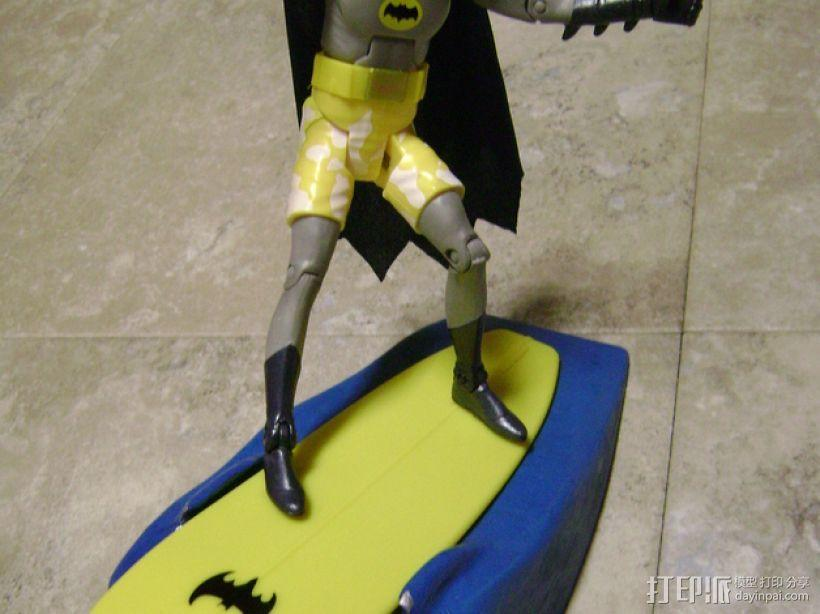 蝙蝠侠冲浪板支架 3D模型  图4