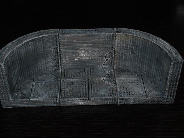 OpenForge椭圆形墙壁 3D模型  图1
