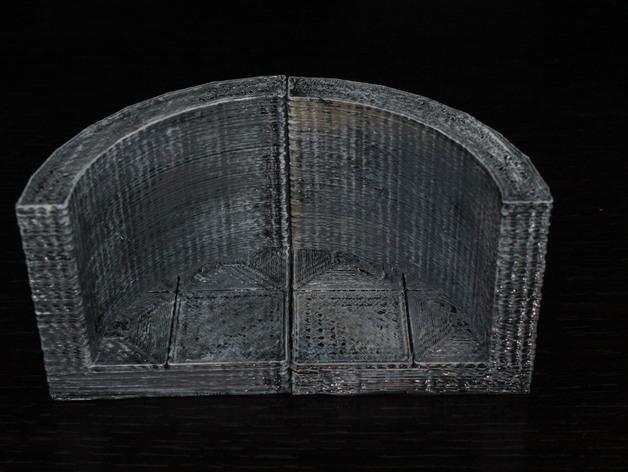 OpenForge椭圆形墙壁 3D模型  图4