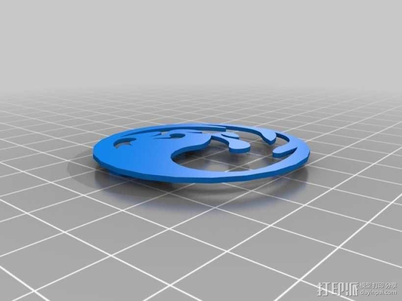 齿轮转动的MTG盒子 3D模型  图2