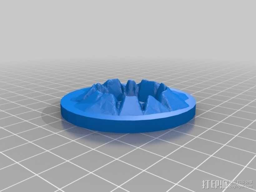 迷你陨石坑 3D模型  图1