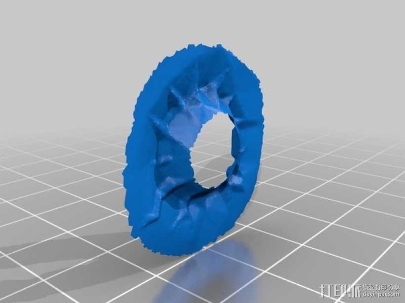 迷你陨石坑 3D模型  图4