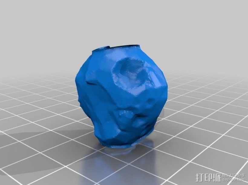 迷你陨石坑 3D模型  图3