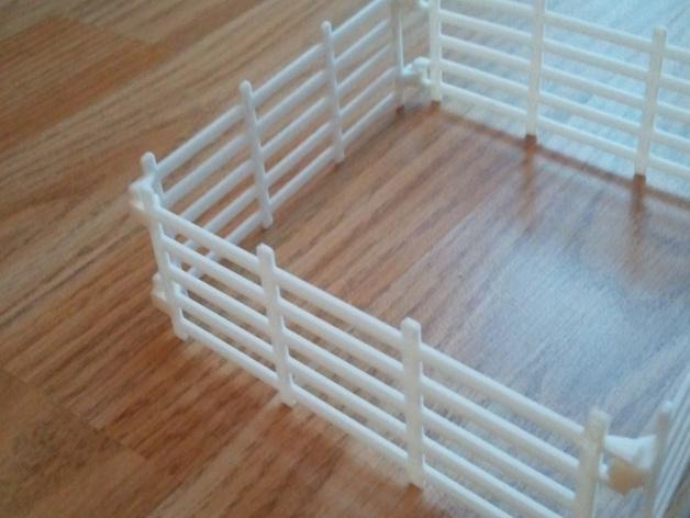 可连接的栅栏 3D模型  图2