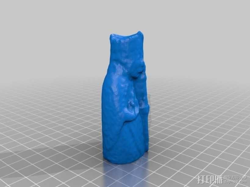 路易斯岛棋子:主教 3D模型  图3