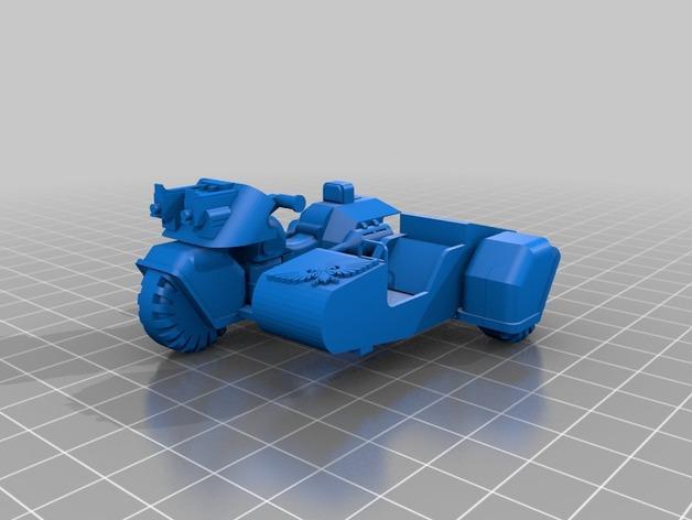 星际空间:Jarhead摩托车 3D模型  图1