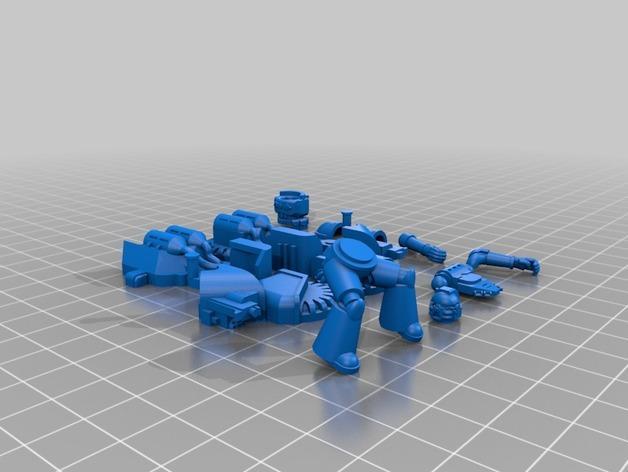 星际空间:Jarhead摩托车 3D模型  图2