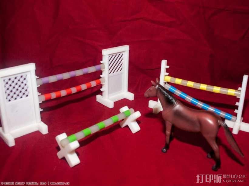 玩具马障碍物 3D模型  图1