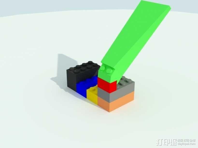 乐高方块分离器 3D模型  图1