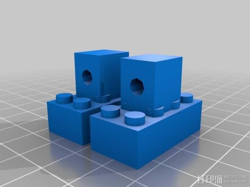乐高建筑拼装玩具 3D模型  图2