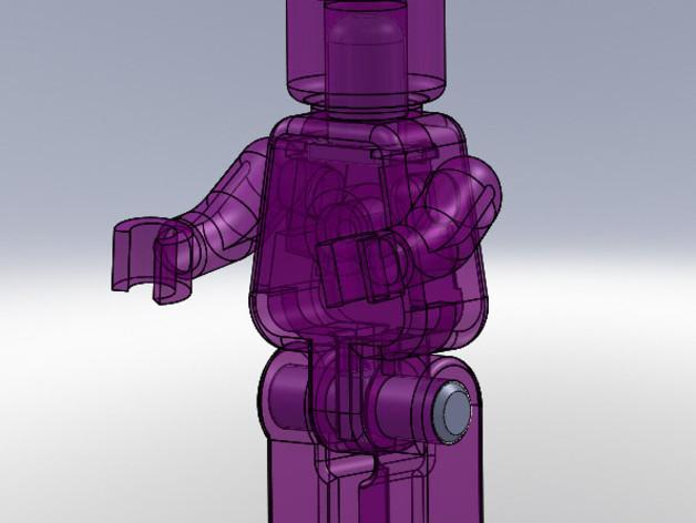 可移动的迷你玩偶 3D模型  图1