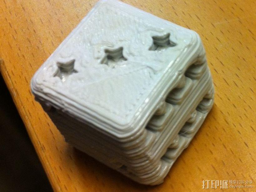 星形六面骰子 3D模型  图1