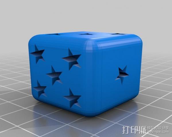 星形六面骰子 3D模型  图2