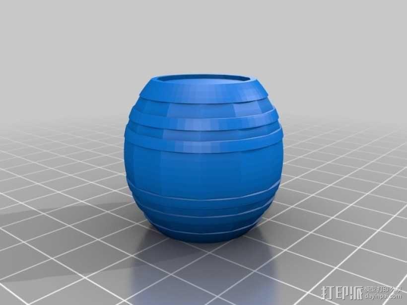 参数化迷你小桶 3D模型  图3