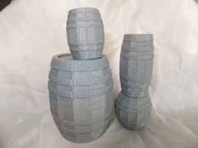 参数化迷你小桶 3D模型