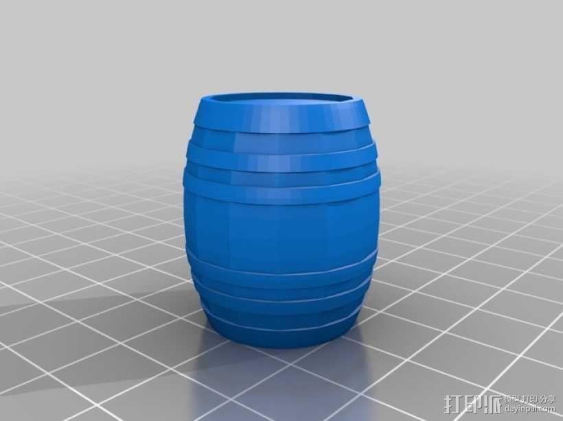 参数化迷你小桶 3D模型  图2