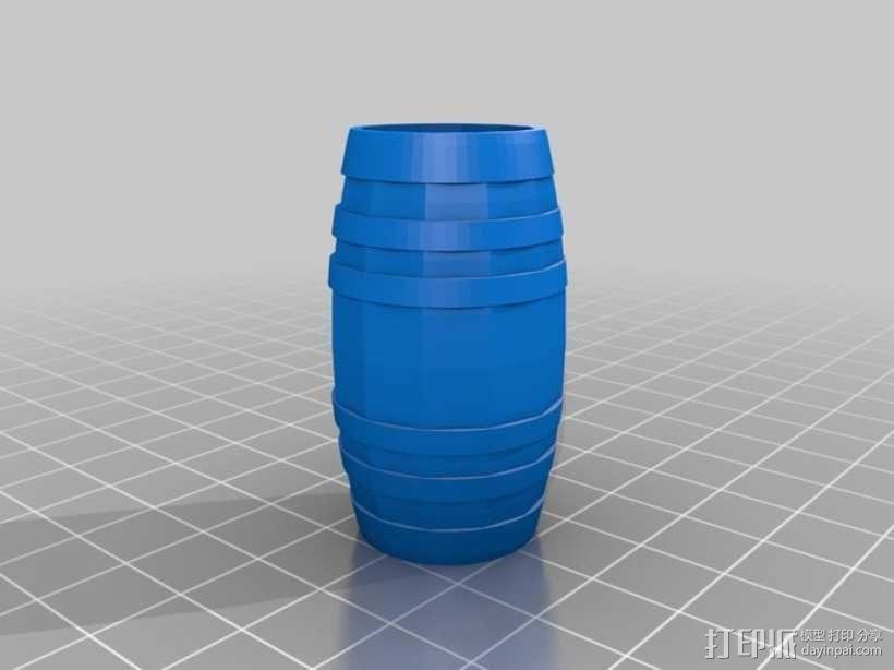 参数化迷你小桶 3D模型  图4