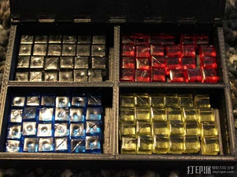 桌游小道具收纳盒 3D模型  图4