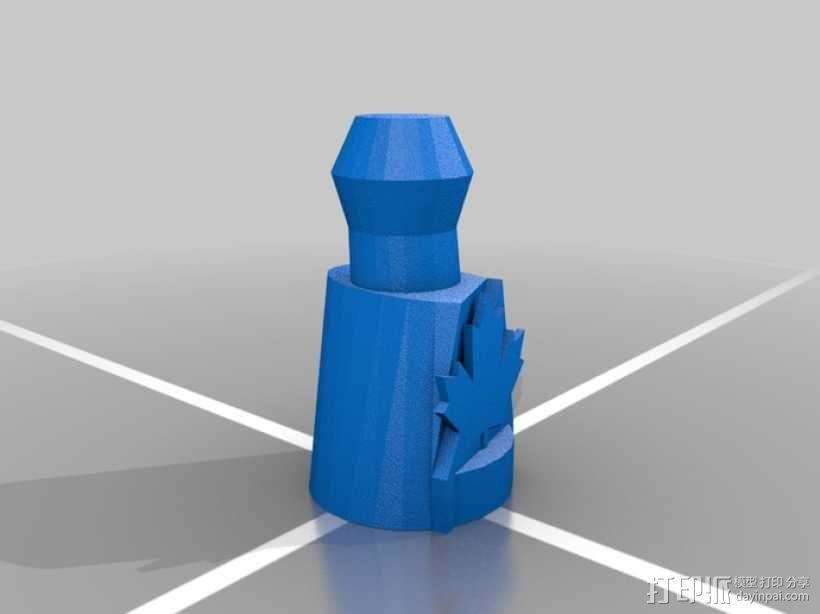 枫叶形象棋套件 3D模型  图1