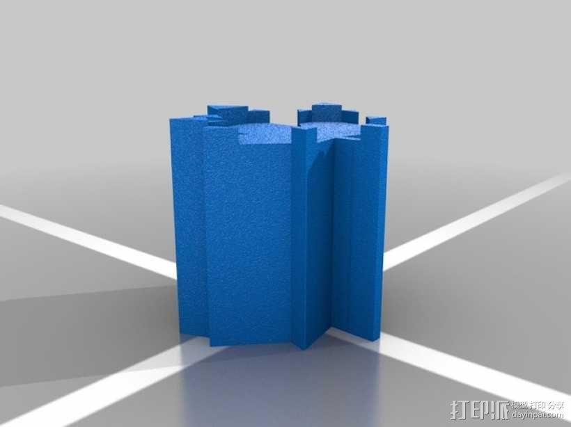 枫叶形象棋套件 3D模型  图5