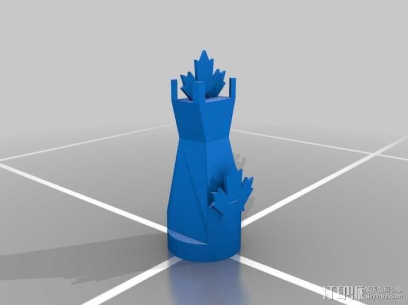 枫叶形象棋套件 3D模型  图6