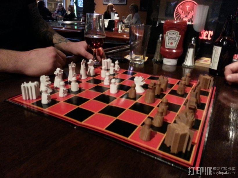 枫叶形象棋套件 3D模型  图8