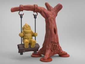 荡秋千的小矮人 3D模型
