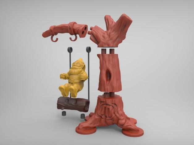 荡秋千的小矮人 3D模型  图3