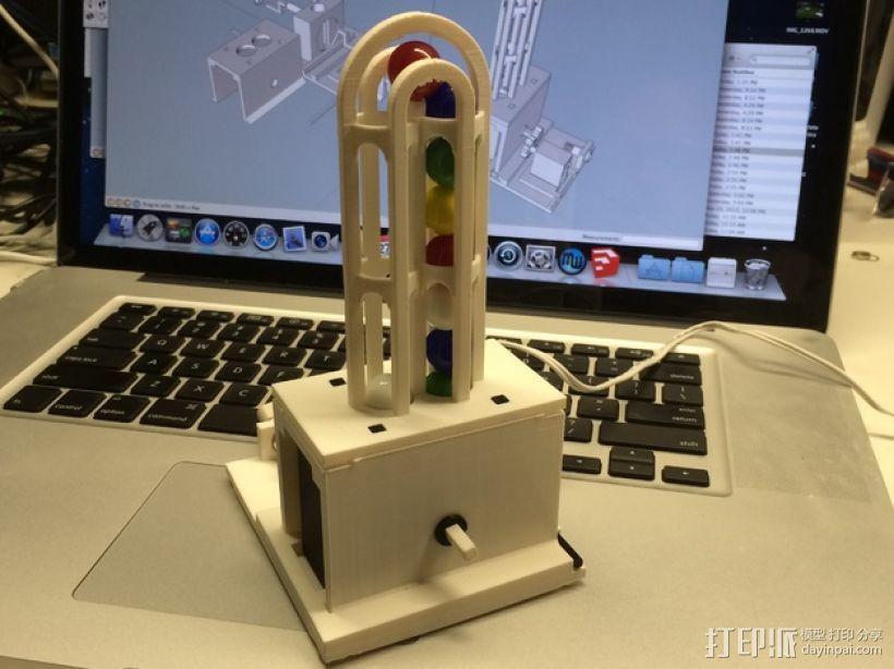 弹珠抽运装置 3D模型  图1