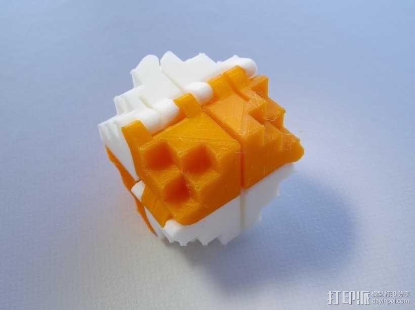 PLA折叠立方体 3D模型  图1