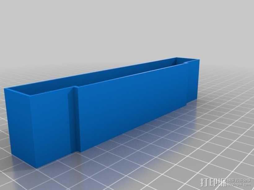 SNES游戏卡防尘保护套 3D模型  图1